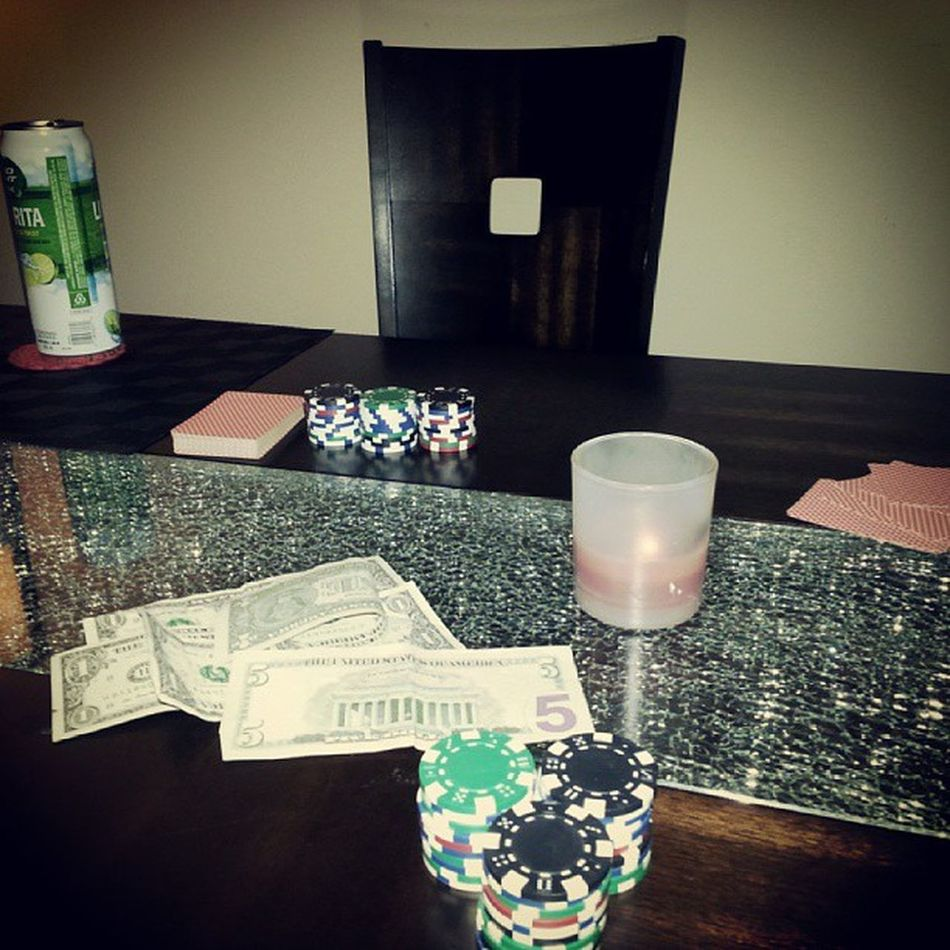 Poker Night with our American Friends
