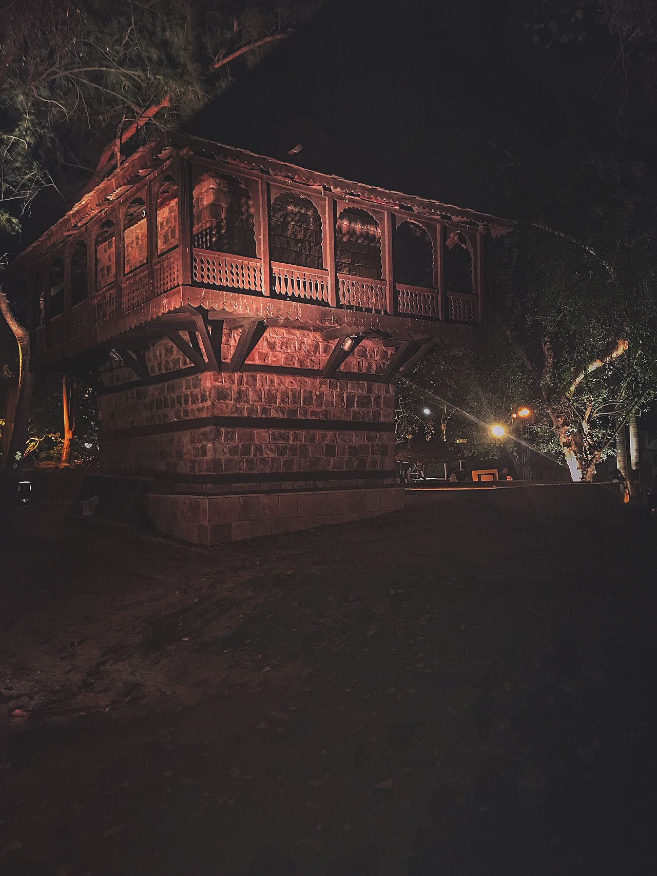 Craft museum | Delhi | India Night Illuminated Mode Of Transport Sky Land Vehicle Outdoors No People Architecture Tree Eyeem Architecture Unique Perspectives Eyeem Market Textures And Surfaces Built Structure City Abandoned