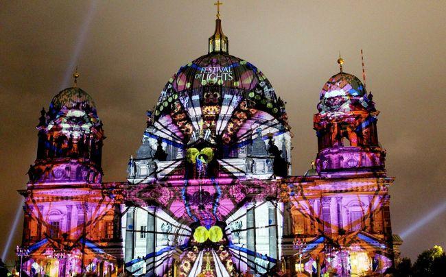 Festivaloflights Berliner Dom Berlincathedral Cathedral Illumination Nightlights Berlinleuchtet