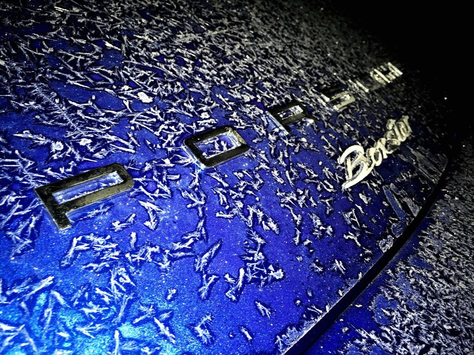 Text No People High Angle View Communication Close-up Day Cars Porsche Ice Frozen From My Point Of View Frozen Car My Dads Car