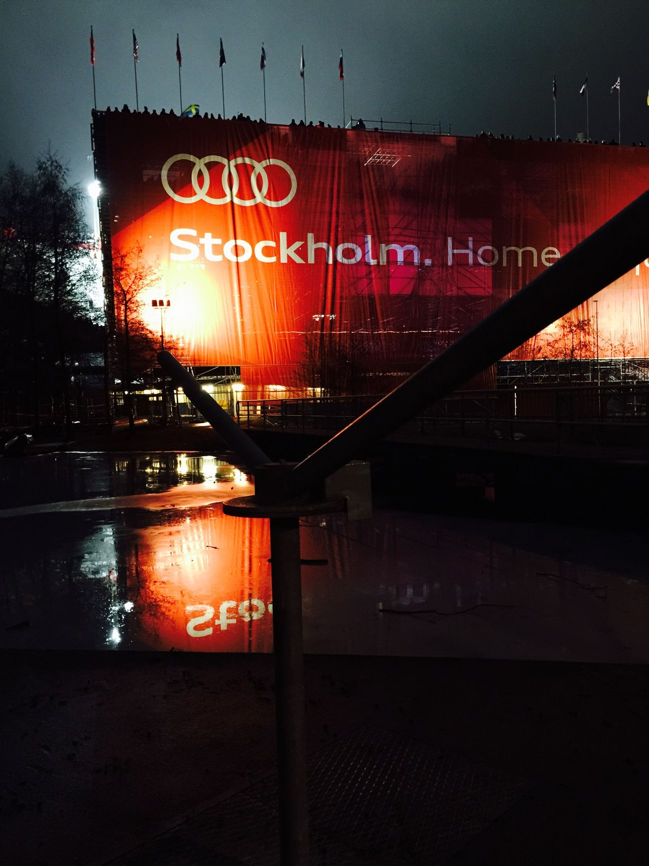 Text Illuminated No People Water Outdoors Architecture Night Neon Red Light Sky Ski Skiing World Championship Snow ❄ Audi