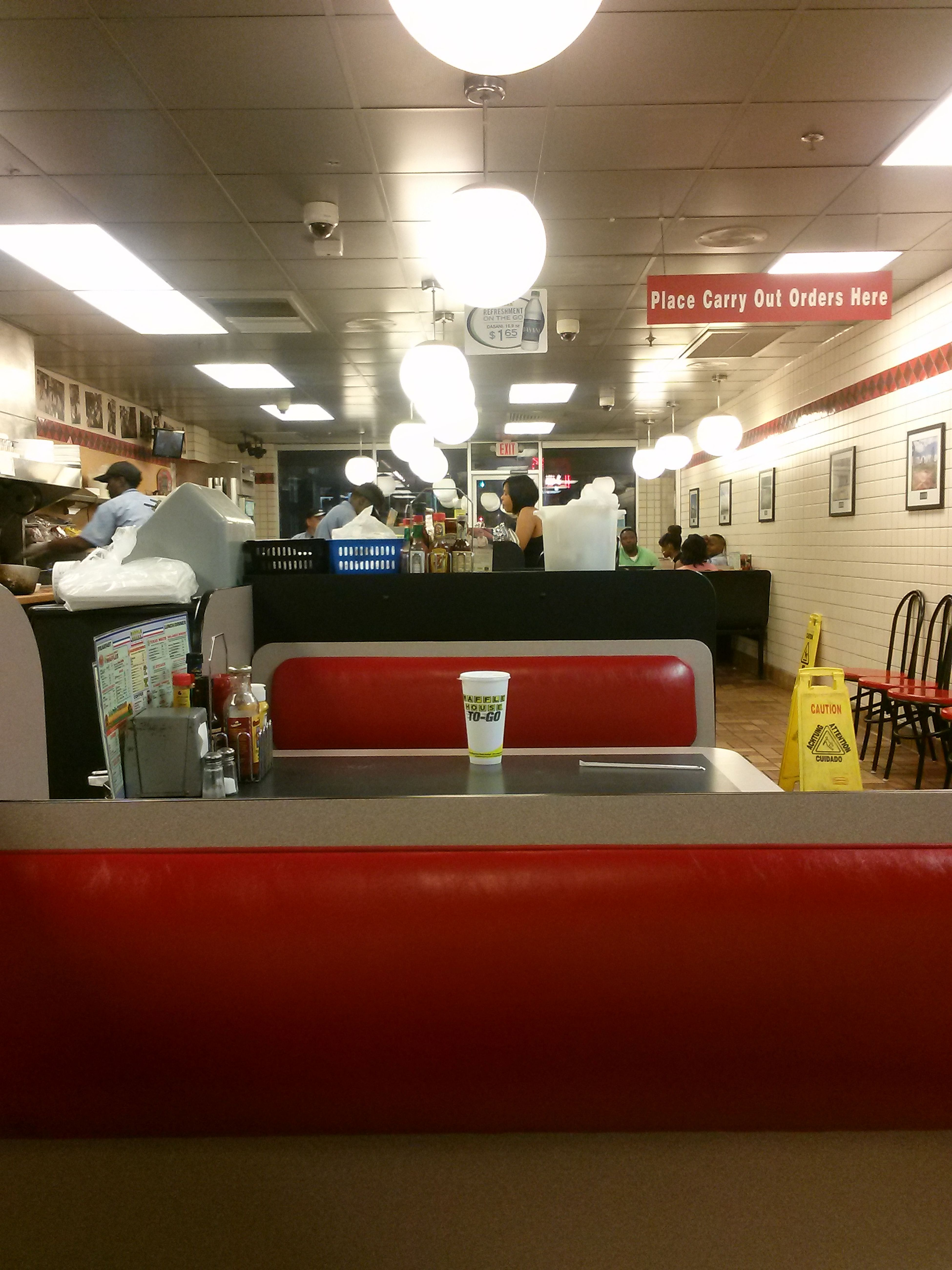 My first time in the Waffle House at Underground Atlanta. Every WH got a different vibe.