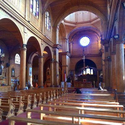 Amazing Church of San Francisco, Castro, Chiloe Island, Chile Church Castro Chilöe Chile All from the Wood Inside the Church! Внутри Церкви все из дерева!