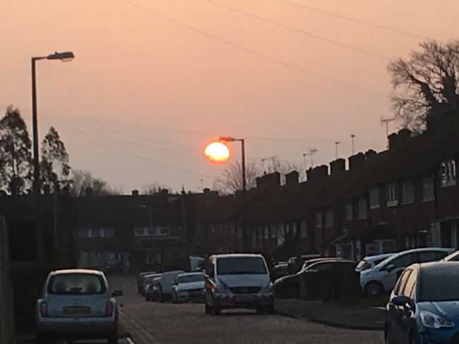Sunrise Lamppost Leaking Suns From Man Made Lamppost
