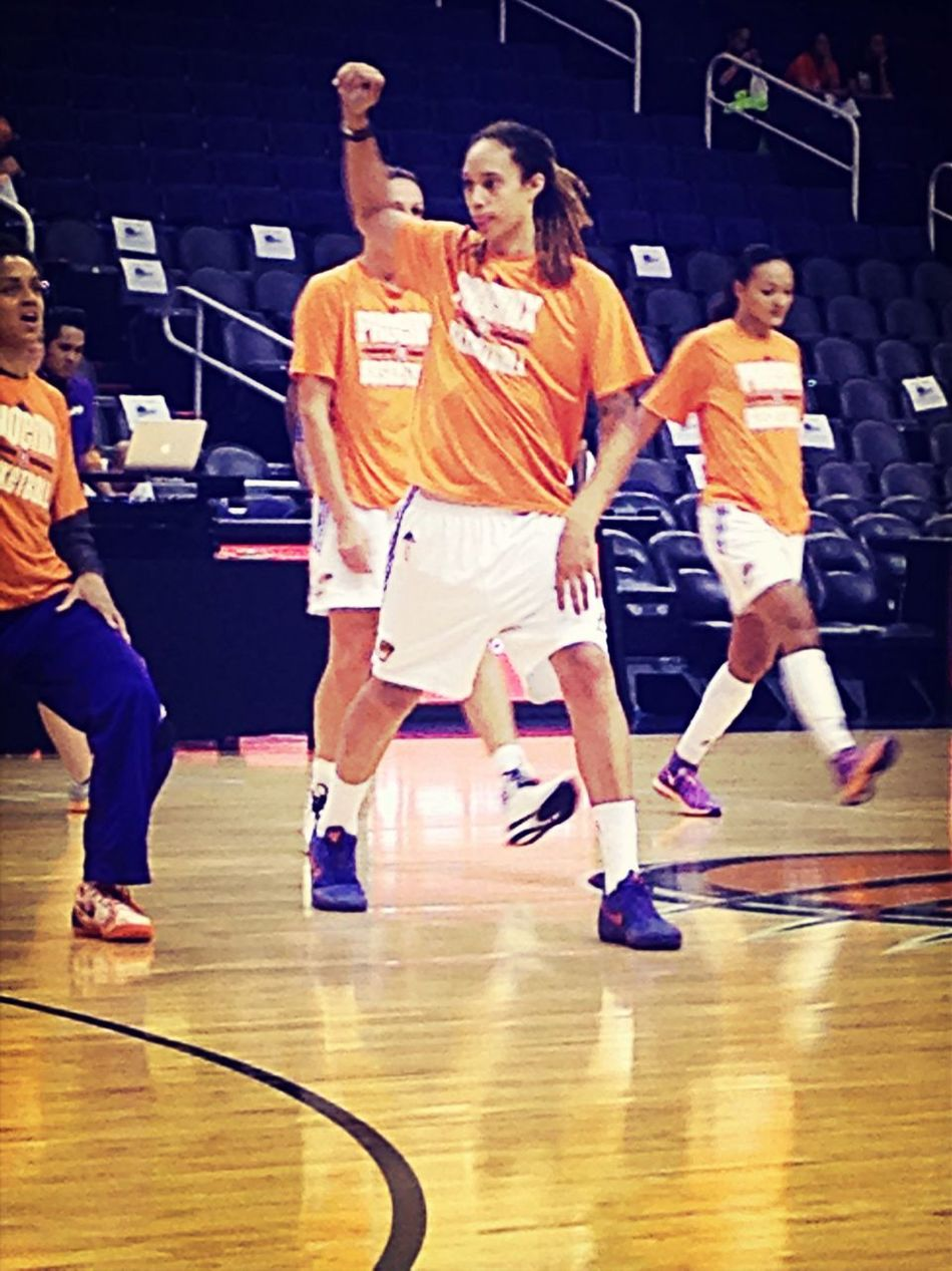 Brittany Griner stretching before the game. Wnba Basketball Finals Sport