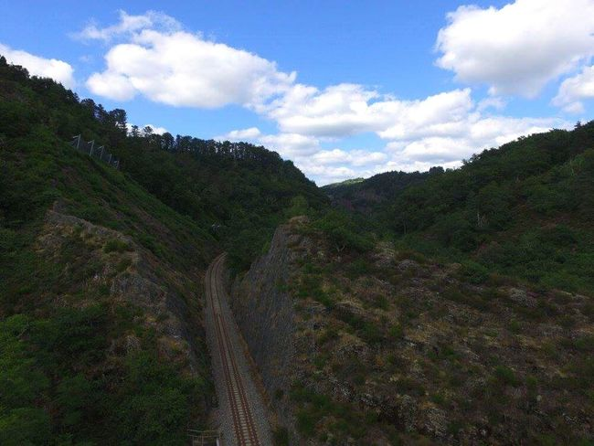 Dronephotography Drone  Auvergne France Train Forets