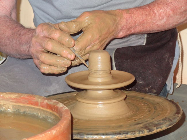 The master... Art And Craft Ceramista Composition Craft Craftmanship Creativity Earthenware Elbow Grease Occupation One Person Potter Pottery Skill  Trinidad Working Working Hands