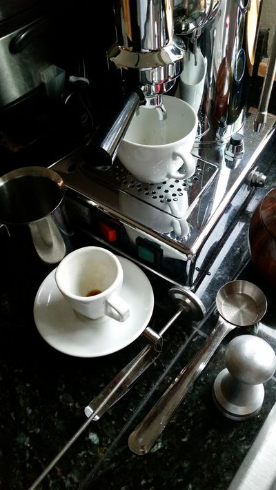 The Purist (no Edit, No Filter) Cellphone Photography Espresso Espresso Machine Chrome Kitchen Coffee At Home Coffee Tools Fine Art Photography Home Is Where The Art Is