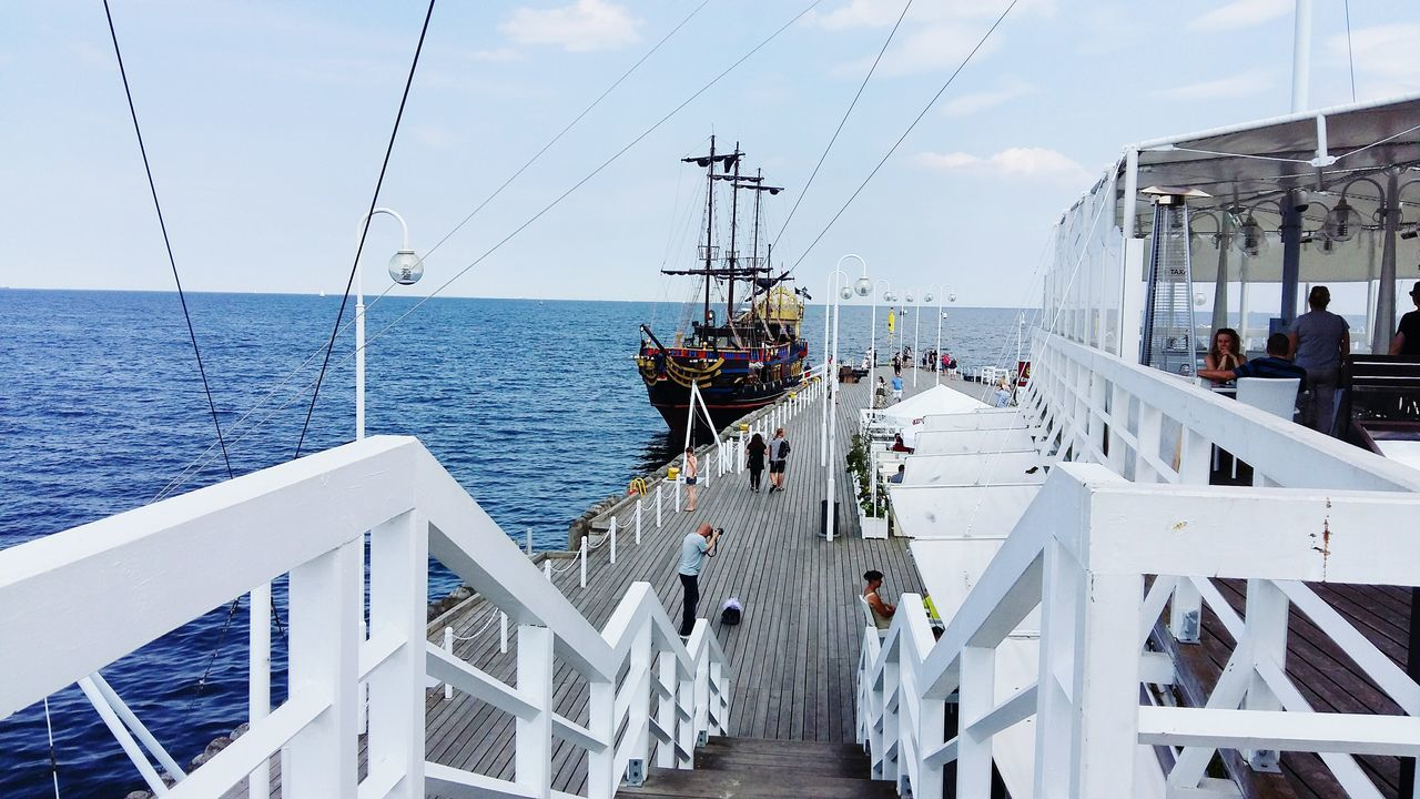 Mode Of Transport Taking Photos Summertime Summer Polska Poland 💗 Poland Quay Jetty Pier Molo Sopot Port Marina Outdoors Street Photography Streetphotography Pirate Pirates Pirate Ship Pirateship  Pirat Statek Piracki Statek Sailing