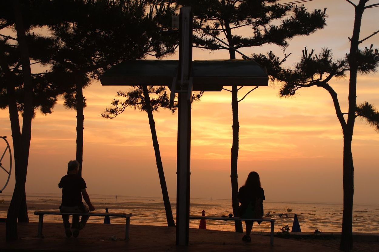 Mallipo beach in South Korea Enjoy the life then you wouldn't regret for anything 🤗 First Eyeem Photo Enjoying Life Beachphotography Watching People Enjoyment Relaxing Moments ItIsMyLife Photographylovers ButFirstLetMeTakeAPic