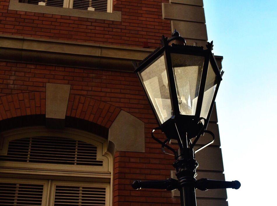 Coming soon evening and night. Light And Shadow Light Brick Wall Sky Sunny Tokyo Chiyoda Marunouchi Museum