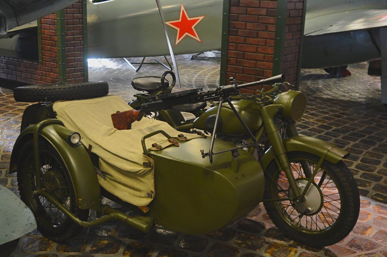 Miltary Army Gun Rifle Transportation Bike Motorbike History Museum Moscow Russia Tourism Tourist Destination