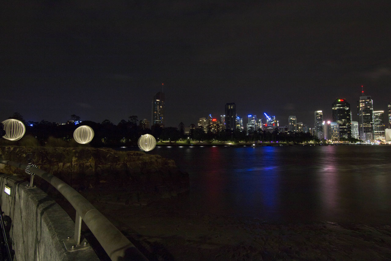 Tripple orbs on the Brisbane River Architecture Building Exterior Canon70d Canonphotography City Cityscape Cityscape Dark Ferris Wheel Illuminated Lightpainting Long Exposure Night Nightlife No People Orb Outdoors River Sky Skyscraper Star - Space Tokina 11-16 Mm F/2,8 Urban Skyline