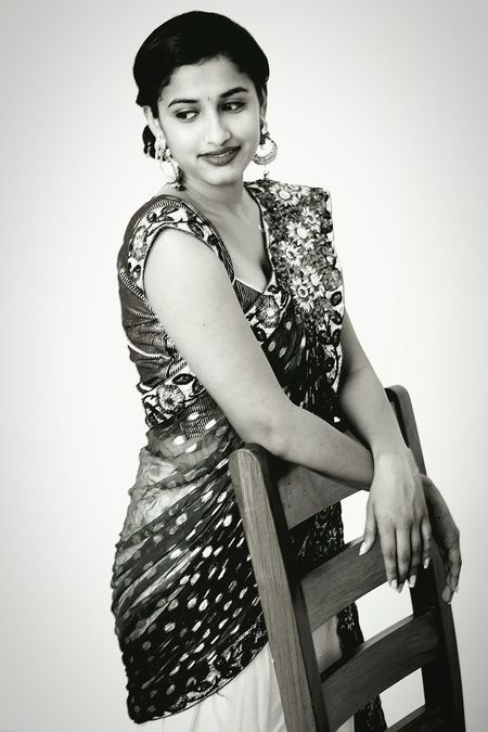 Photoshoot Themed Yesteryears Every Picture Tells A Story Blackandwhite Photography Storyteller Thewait Sareeswag Sareeindia Saree Doesnt Match Up Witout Luks Eyes Are Soul Reflection