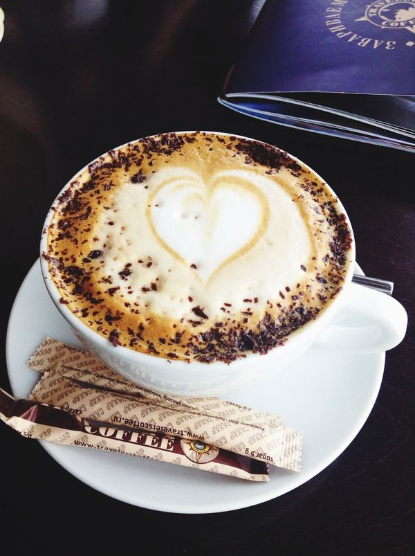 Love in one cup Love Heart Cafe Latte Traveler's Coffee Coffee Time Coffee Latte