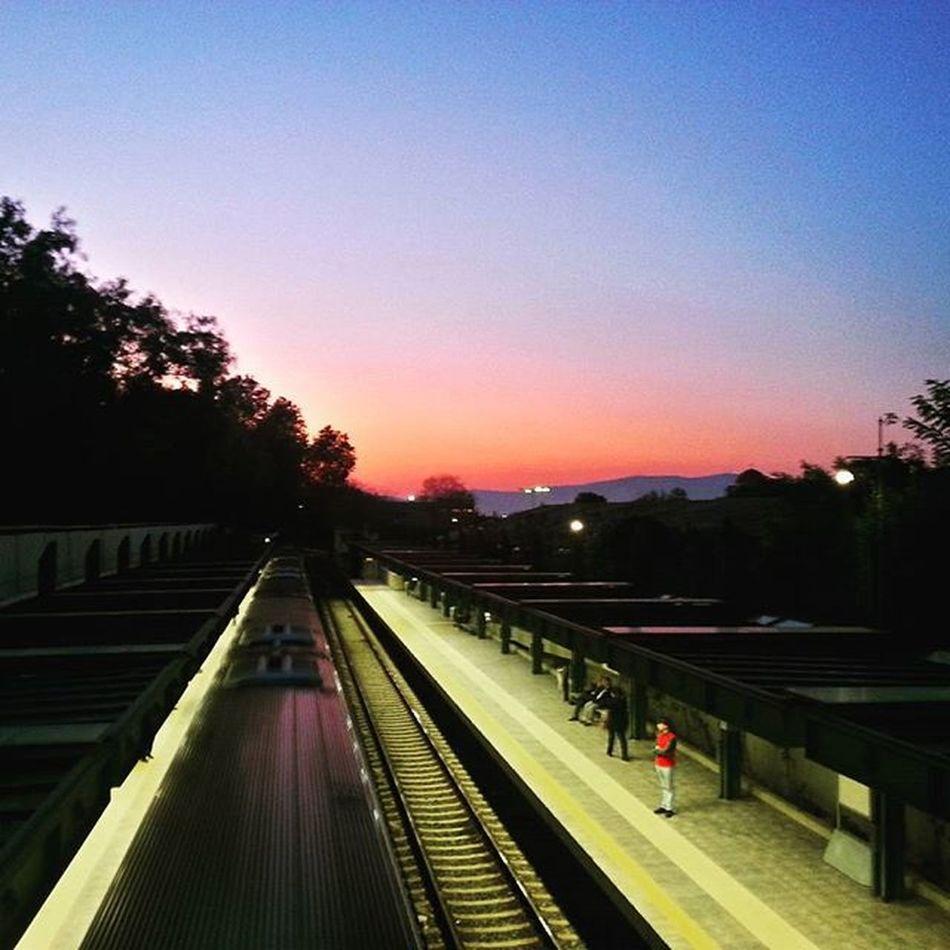 Sunset Trainstation Metrostation Thiseio HDR