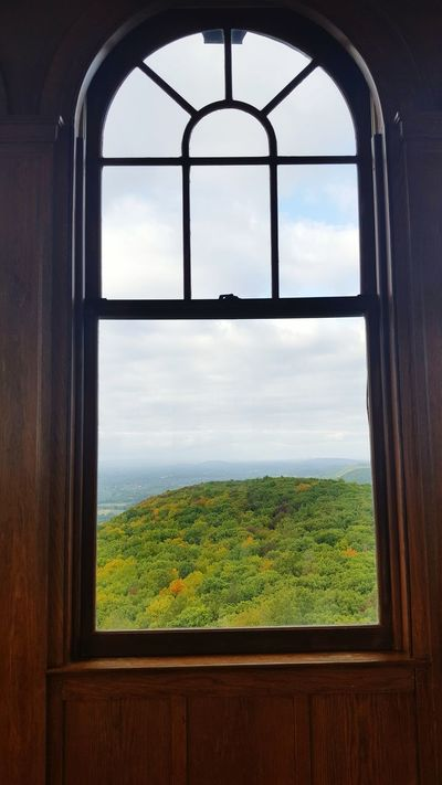 Window Scenics No People Rolling Hills Nature Historical Building