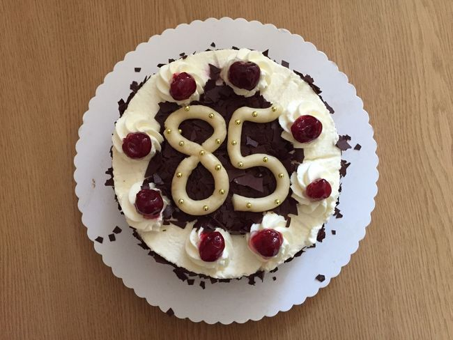 85 Birthday Baked Birthday Cake Cakes Chocolate Close-up Dessert Donut Food Freshness Heart Shape Indulgence No People Plate Ready-to-eat Serving Size Snack Still Life Sweet Food Temptation Unhealthy Eating