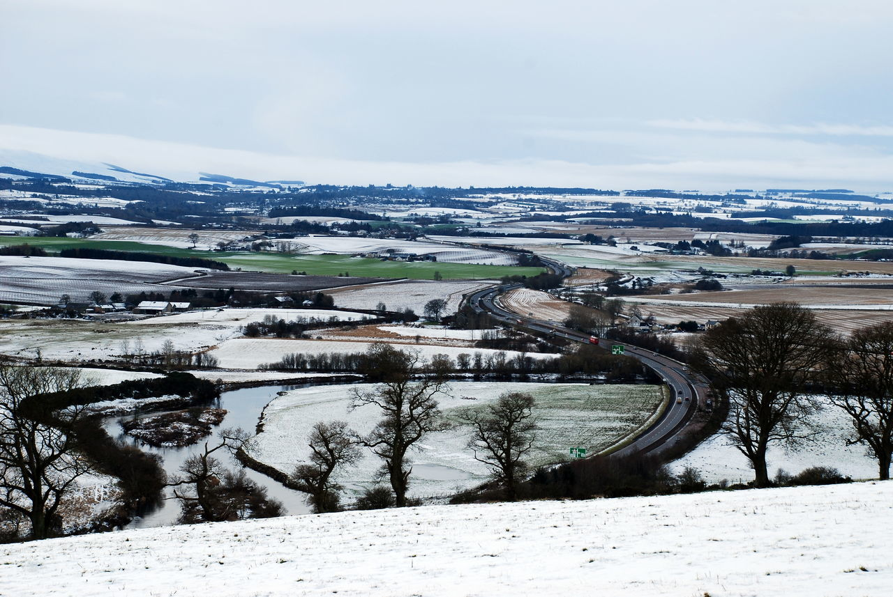 A9 Road Perthshire, Scotland River Earn Beauty In Nature Cold Temperature Day Landscape Mountain Nature No People Outdoors Road Scenics Sky Snow Tranquility Water Winter