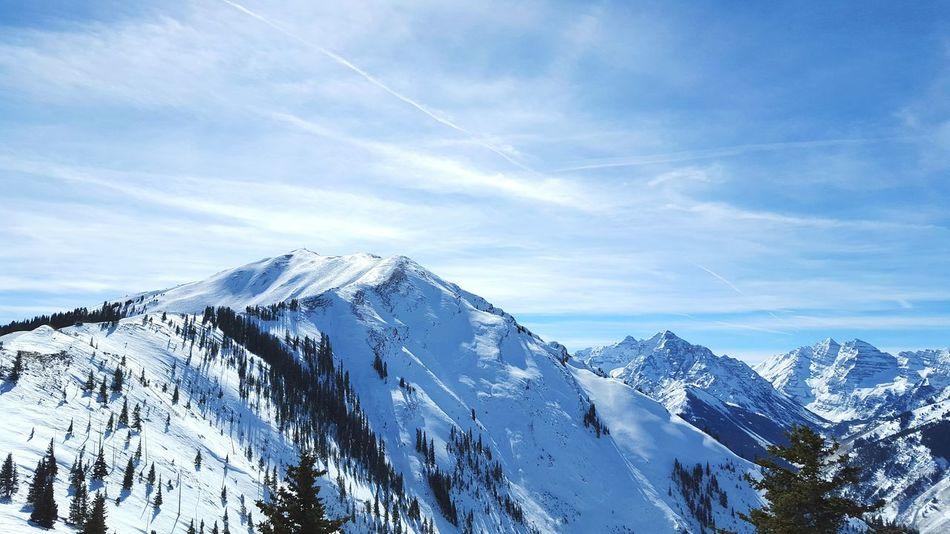 Beautiful stock photos of schnee, Aspen, Beauty In Nature, Cloud - Sky, Cold Temperature