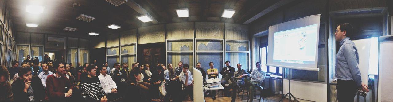 Listening to pitches at Mini Seedcamp Krakow cc @kirst Omgkrk