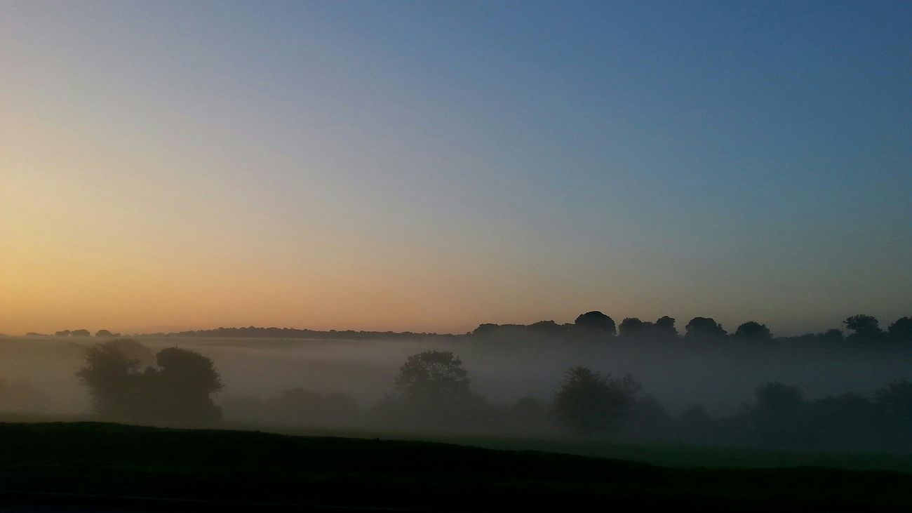 Sunrise Dawn Epsom Downs From My Point Of View Morning Light