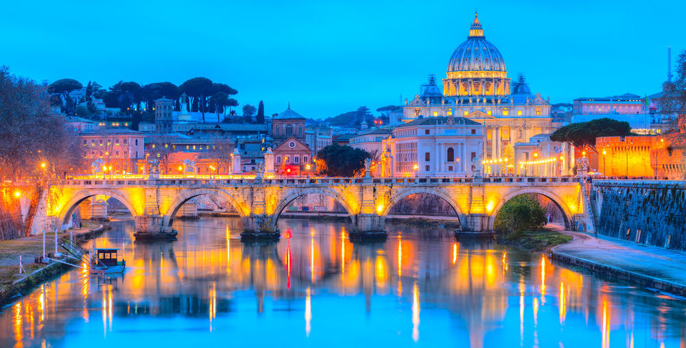 St. Peter's Basilica in vatican, Rome, Italy Riverside Roma Rome St. Peter's Basilica Vatican Italy River San Pietro Sant'angelo Tiber