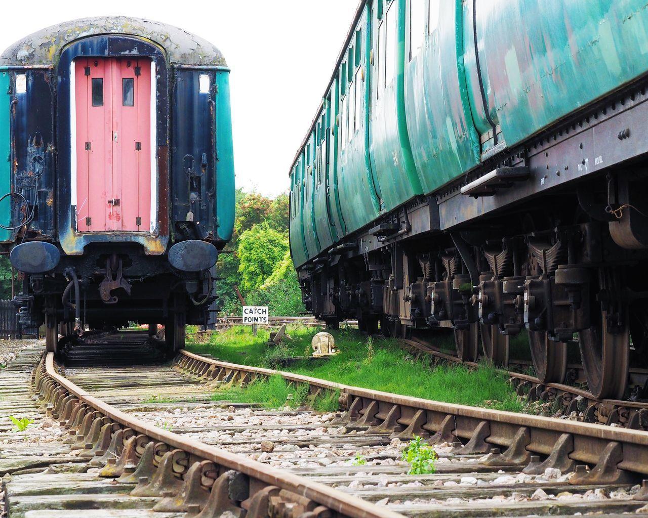 Old Trains On Tracks