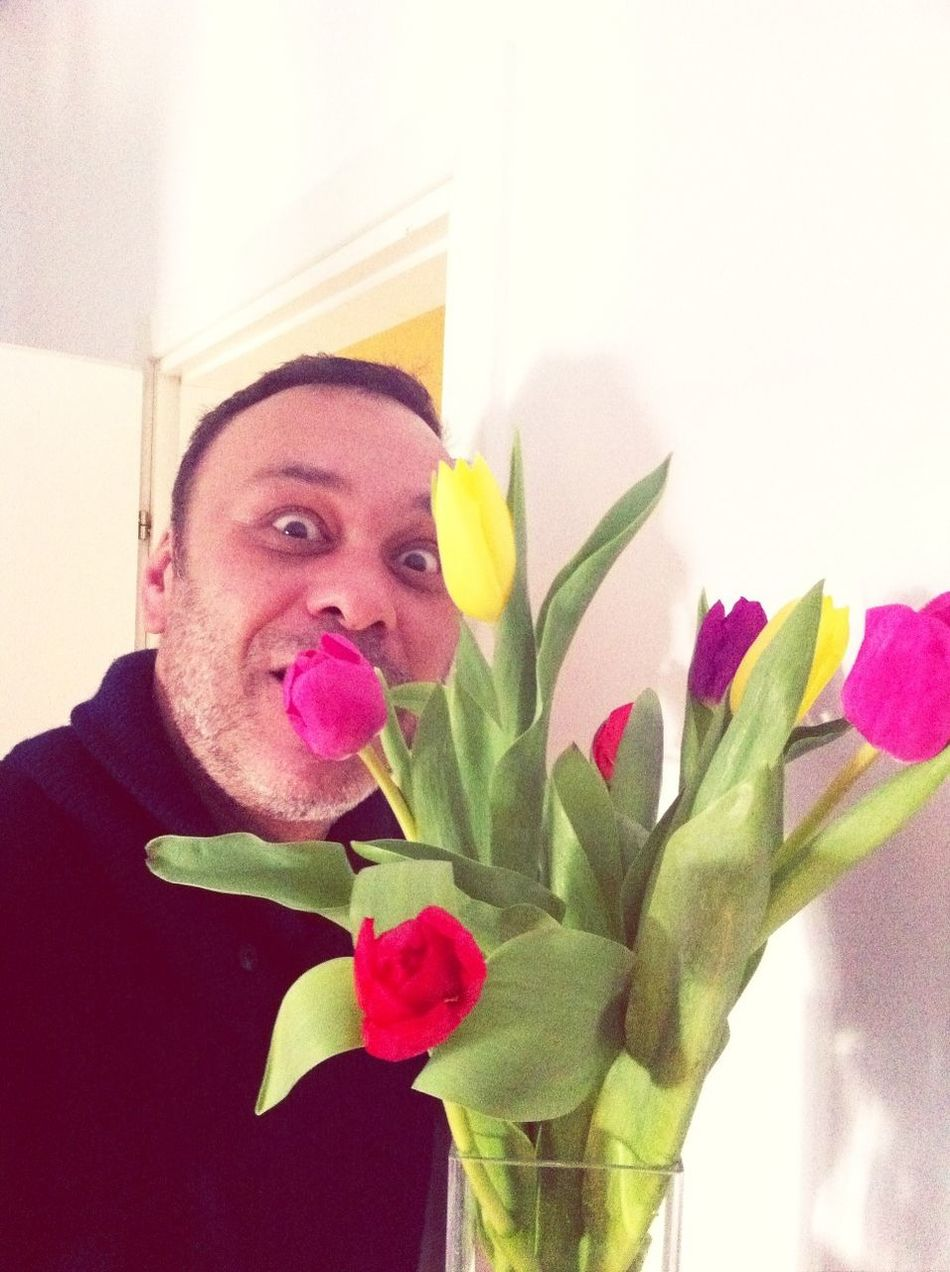 Thank you Soyhan for tulips... And for your funny face