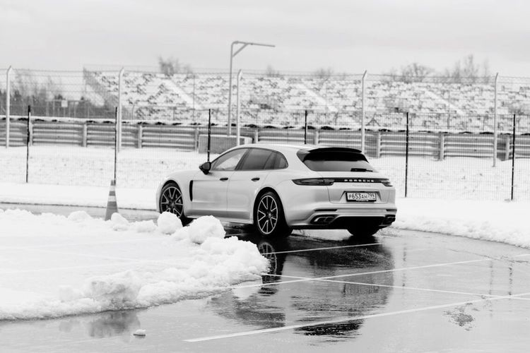 Snow Winter Cold Temperature Car Weather Transportation Blackandwhite Porsche Panamera Sportturismo Race Sport Land Vehicle Outdoors Road Day Nature Snowing Snowdrift Water No People Sky Black And White Friday Be. Ready.