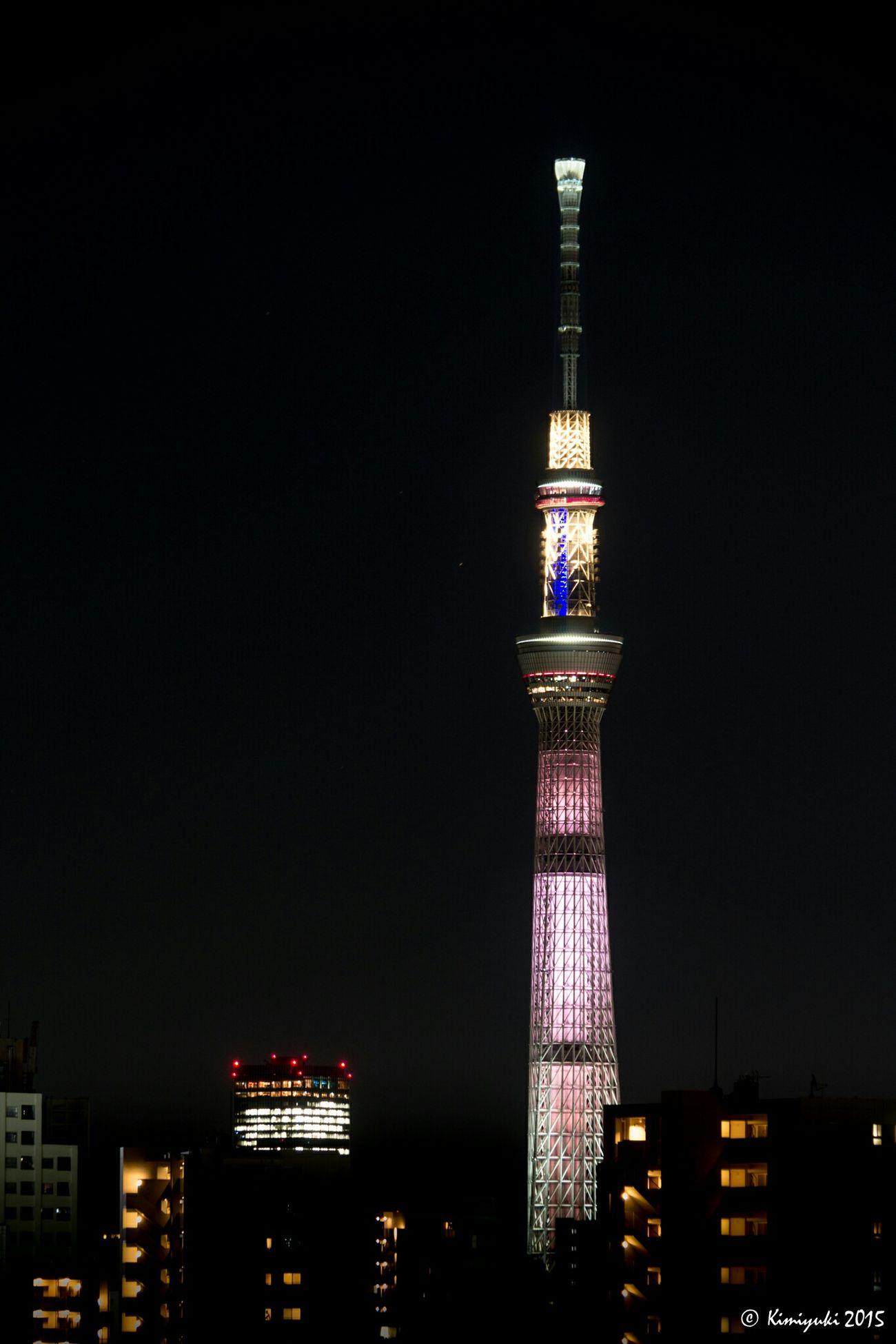 White Chocolat Skytree Tokyoskytree Tower Olympus Om-d E-m10 Nightphotography Lightup 鉄塔♡Love