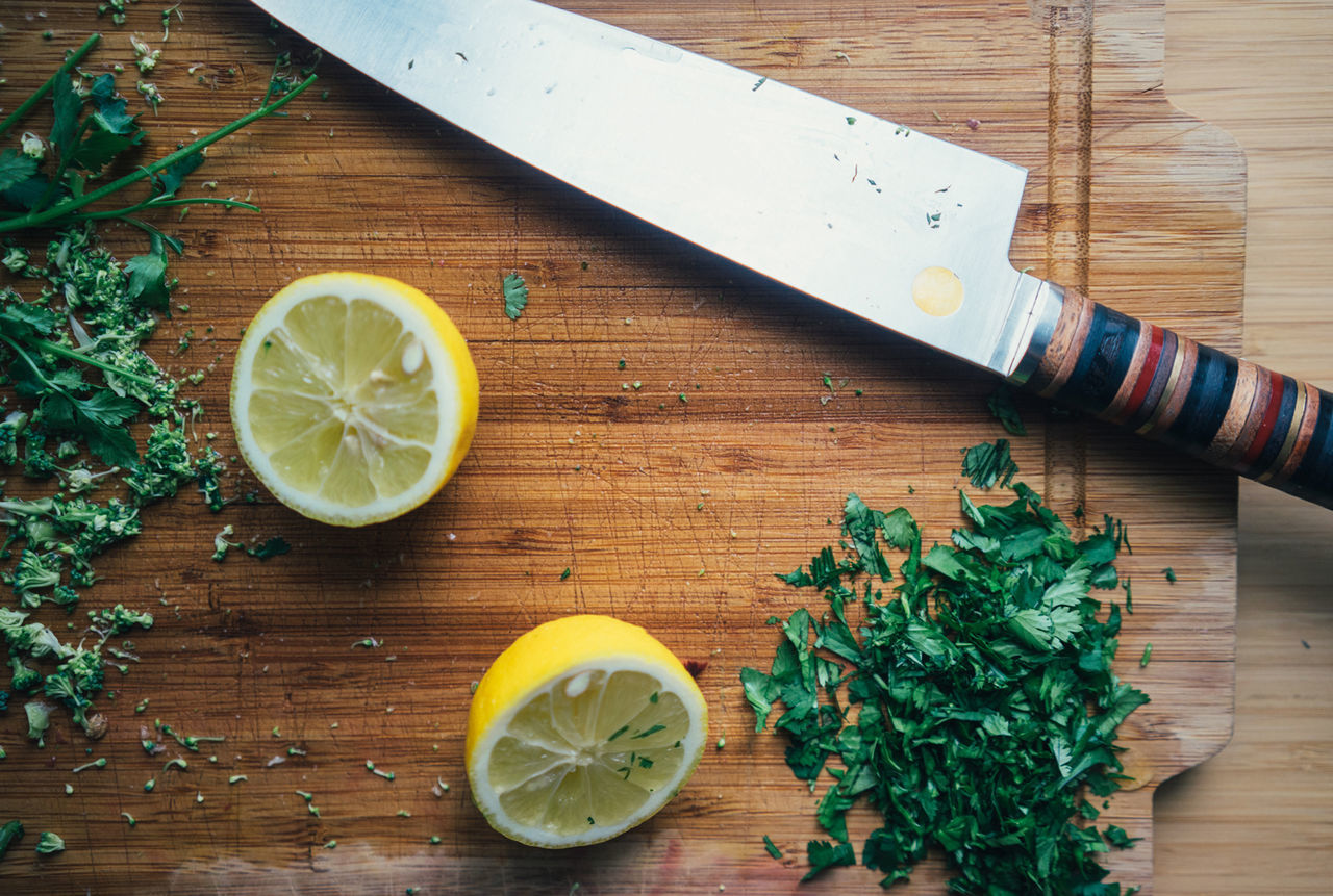 Beautiful stock photos of küchen, Cilantro, Citrus Fruit, Cross Section, Cutting Board