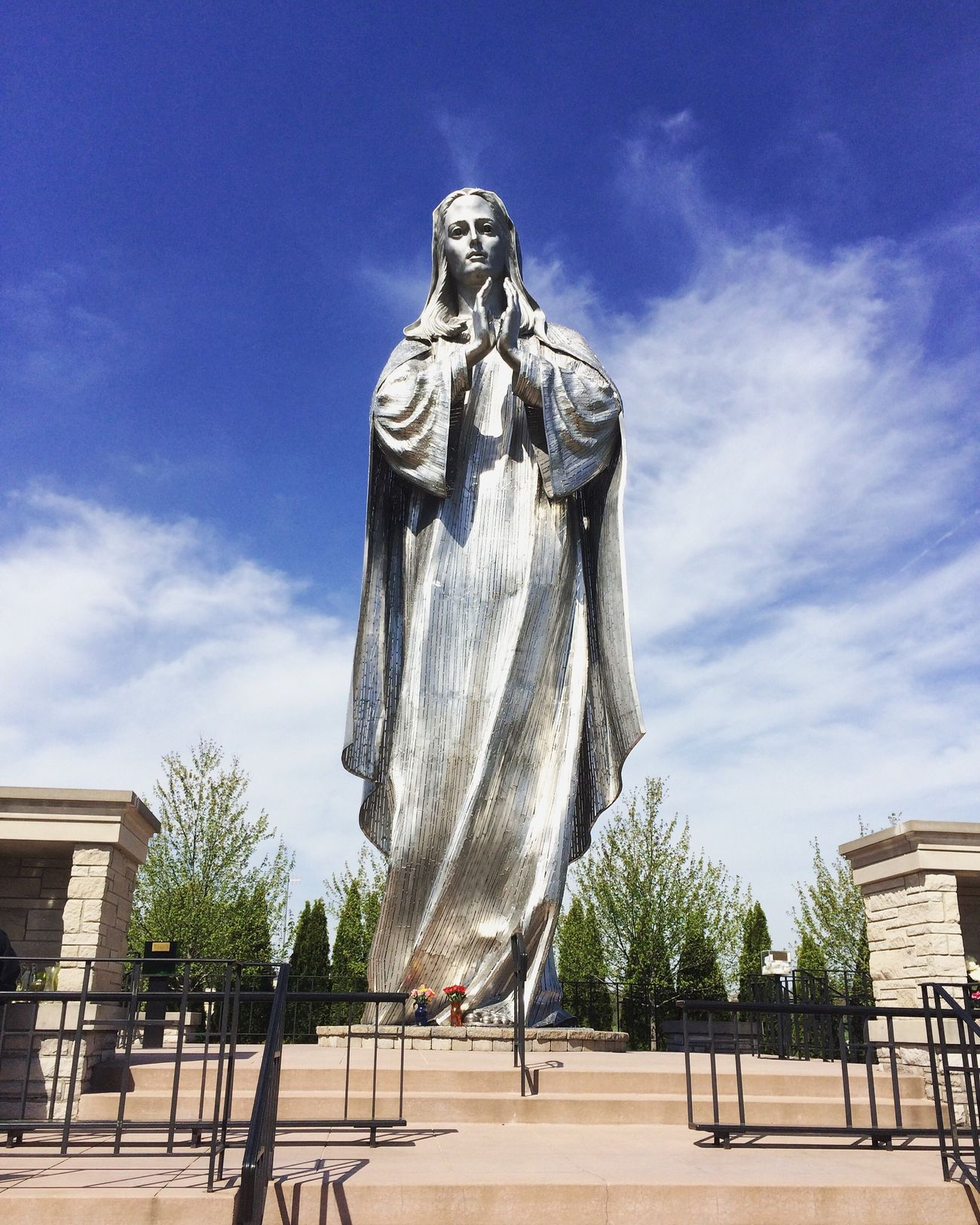 Human Representation Statue Sculpture Art And Craft Architecture Travel Destinations Virgin Mary Sacred Places Sacred Beautiful USAtrip USA USA Photos Indiana