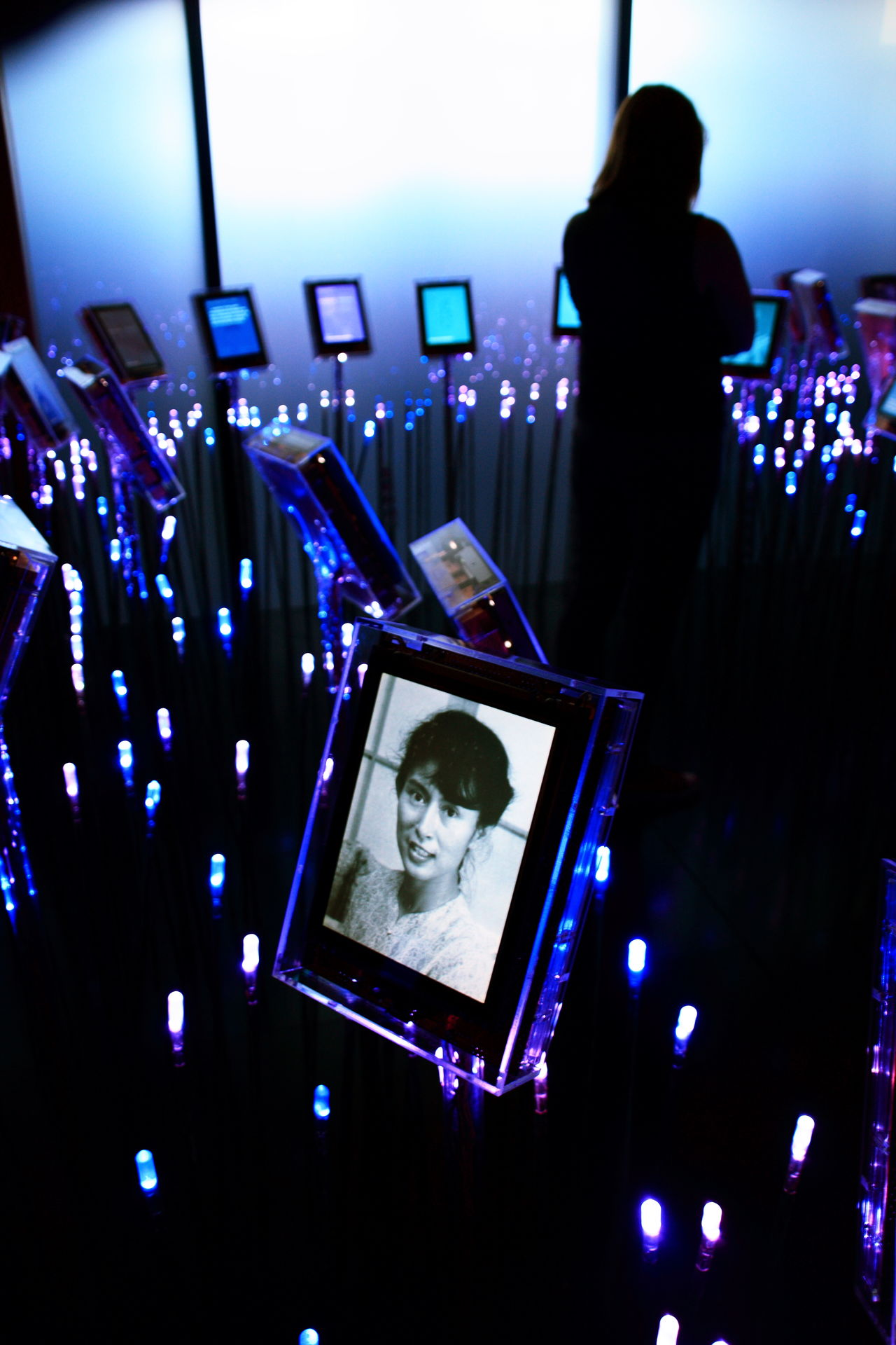 All The Neon Lights Neon Nobel Peace Prize Nobel Prize Oslo Portrait Portrait Of A Woman Silhouette