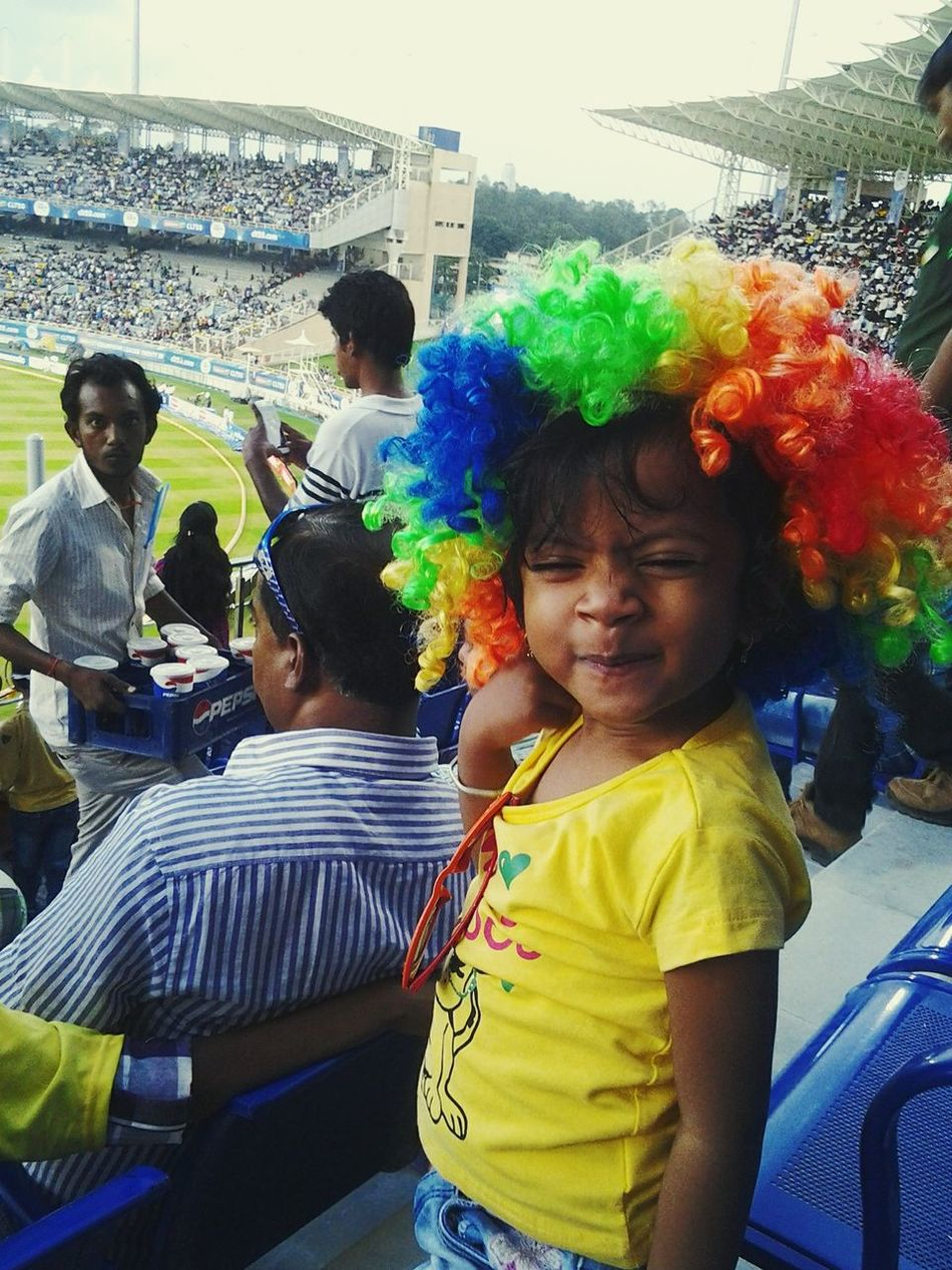 First Eyeem Photo Watching Cricket Cheez-it Babygirl