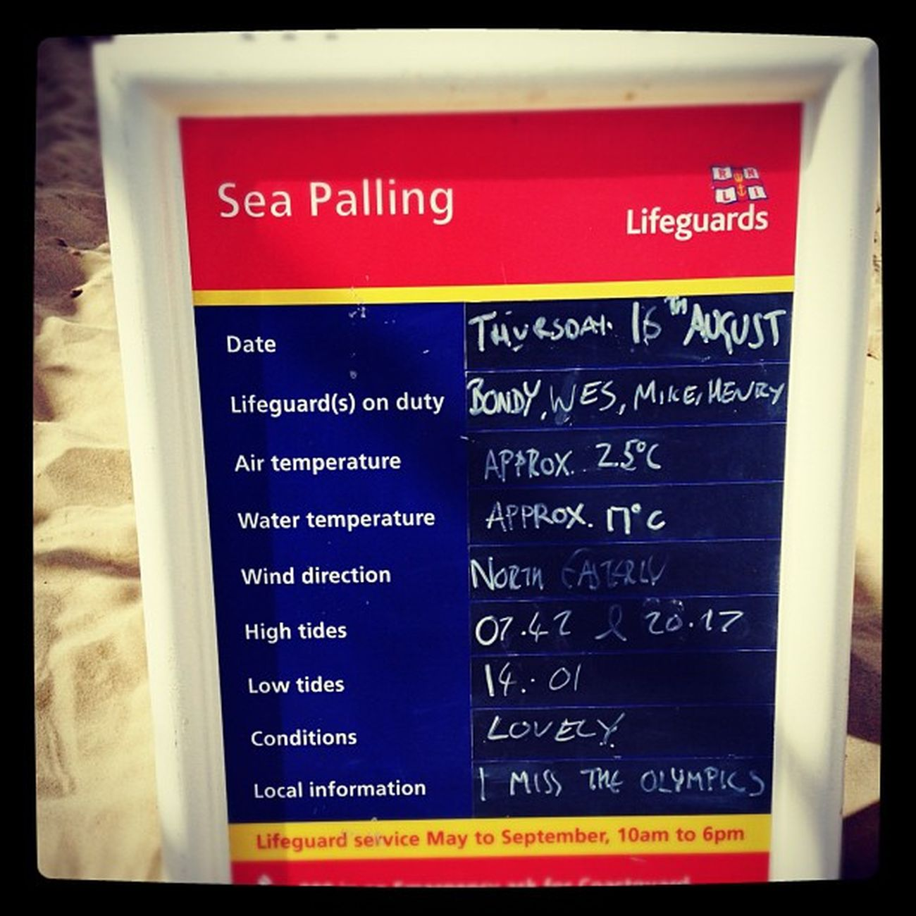 Love this.... Check out the local information line RNLI Seapalling Notfolk Beach sun