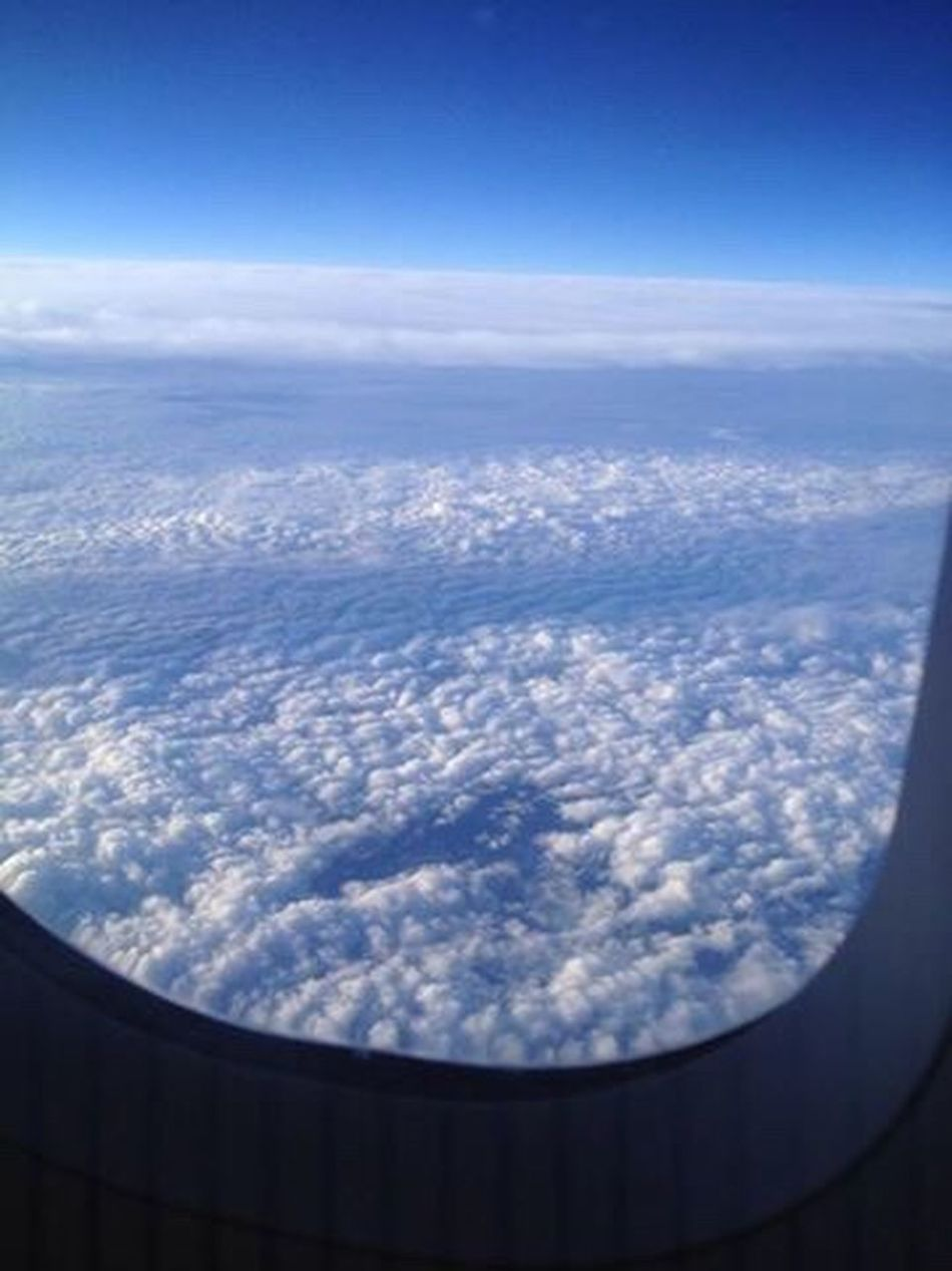 Sky Cloud - Sky Nature Scenics Beauty In Nature Aerial View Airplane No People Tranquility Day Outdoors Blue Clouds And Sky