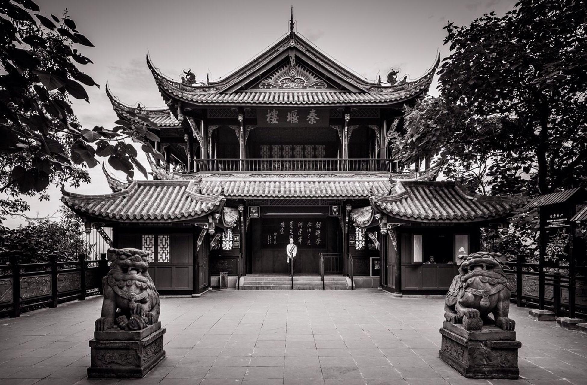 Blackandwhite Temple Chengdu China