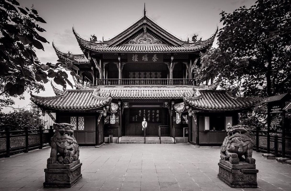 blackandwhite temple Chengdu china by PascalK