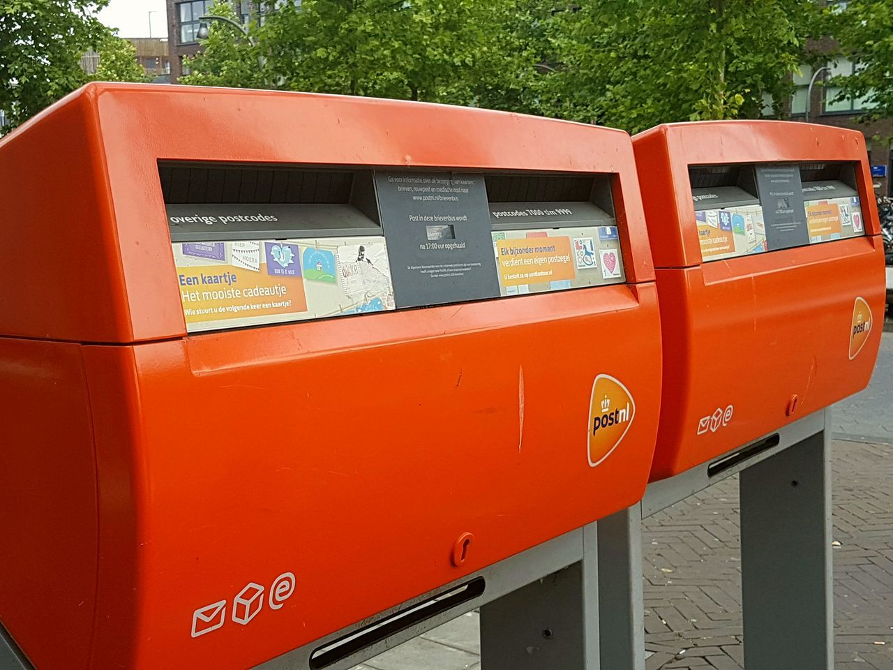 orange color, red, day, outdoors, communication, no people, public mailbox, close-up