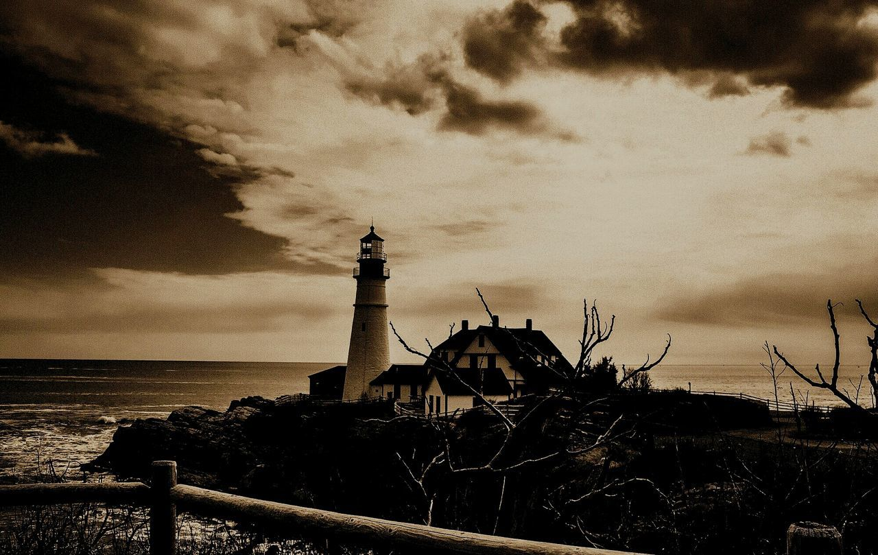 Portland Headlight , Portland, ME Sepia Whistleblowers Need Love Whistleblower Whistleblowers Need Help With Money Risking My Life To Inform The Public Light And Shadow Lighthouse_lovers Mainethewaylifeshouldbe Mainephotographer Nikonphotography Fencepost Coastline Atlantic Ocean Landscape_Collection Seascape Sky And Clouds