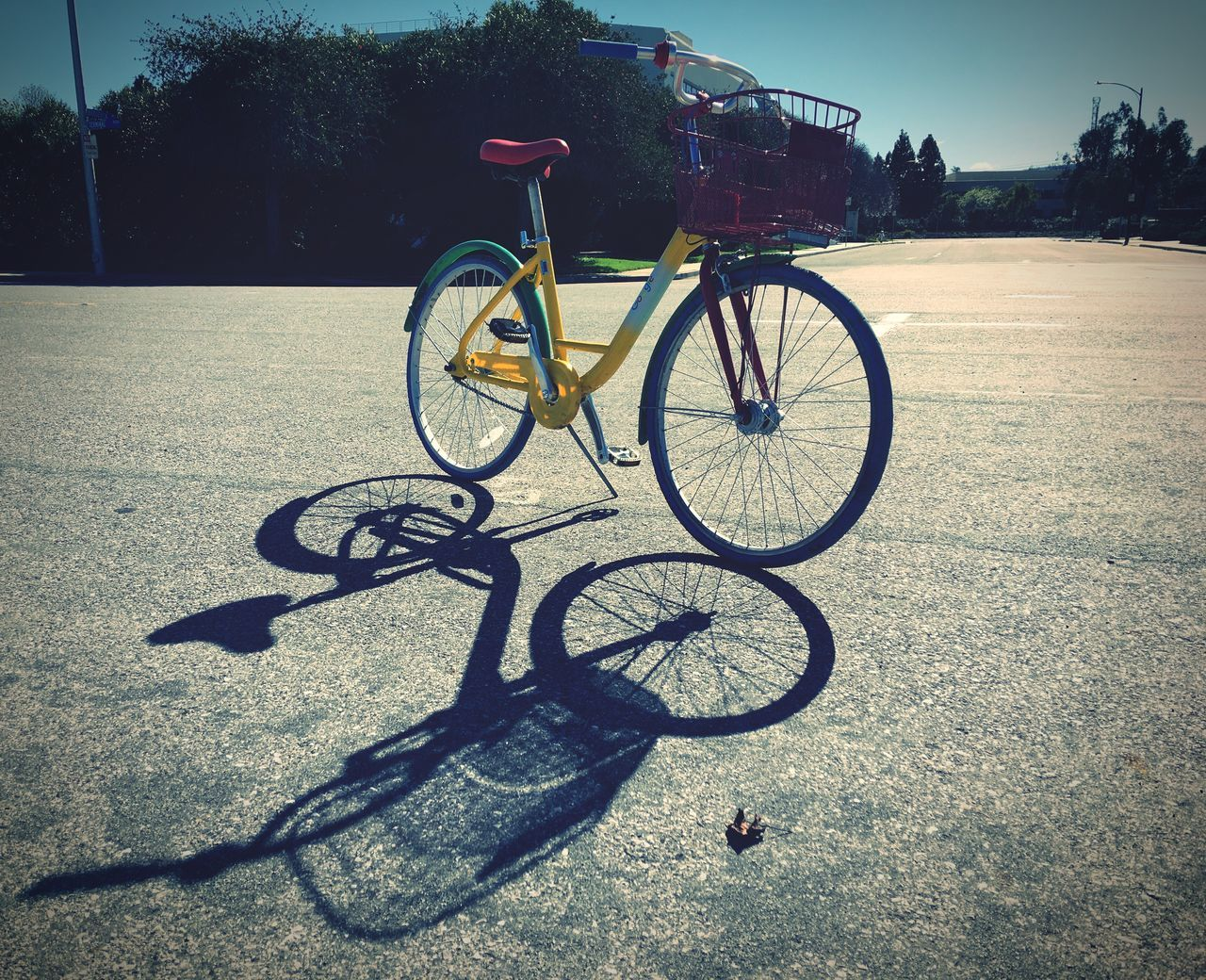 Shadows Bike Bicycle Transportation Mode Of Transport Land Vehicle Primary Colors Google Bike