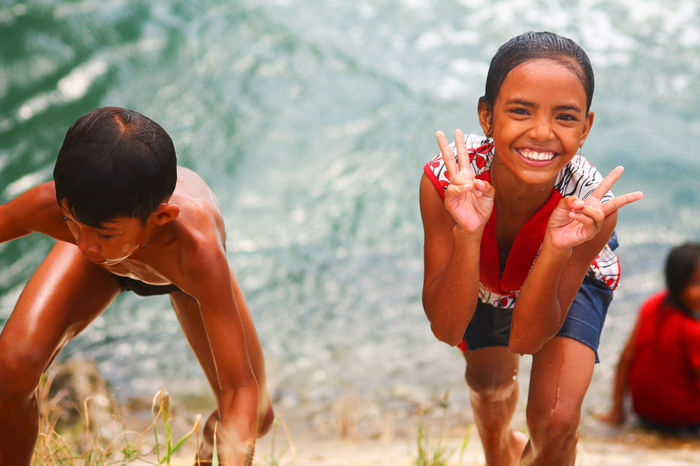 Children of the sea Leisure Activity Togetherness Water Friendship Summer Nature People Photography Travel People And Places Close-up Smile People Posing For The Camera Vacations Children Playing EyeEm Best Shots - People + Portrait Bohol Philippines