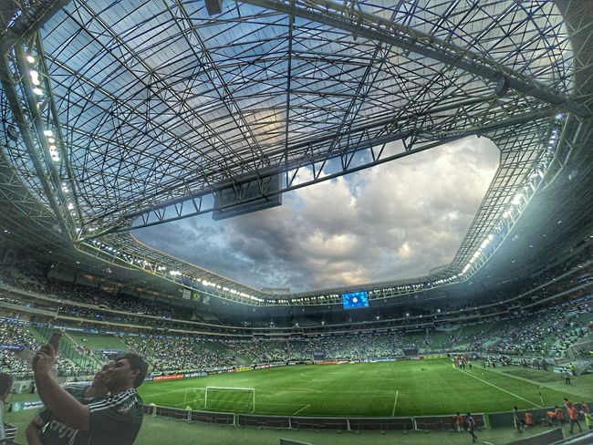 Allianz Parque Soccer Sport Sky Sports Team Soccer Player Stadium Soccer Field People Day Competitive Sport First Eyeem Photo