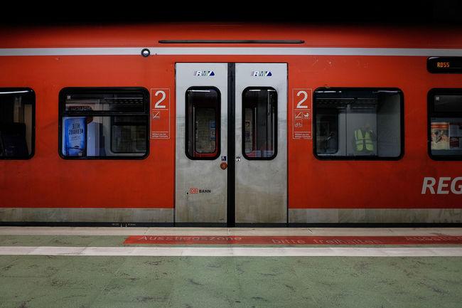 Empty train Red Transportation No People Indoors  Day Horizontal Priceless Fujifilm Transportation City Modern Seats Lifestyles Frankfurt Am Main Street
