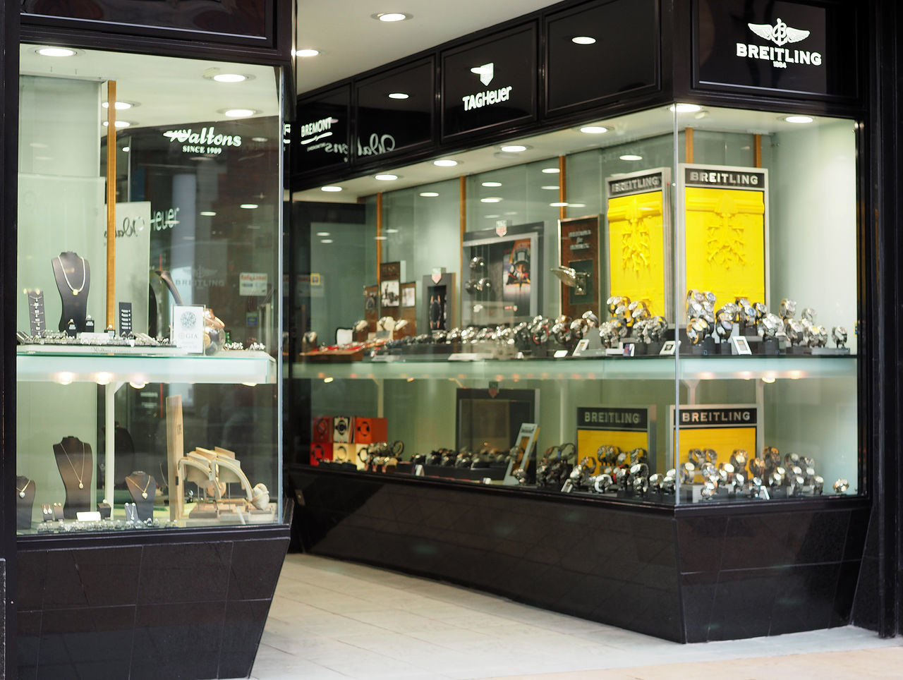 City of Chester Brietling Eastgate Street Jewellers Shop A Taste Of Chester, UK Selling Watches Brietling Watches