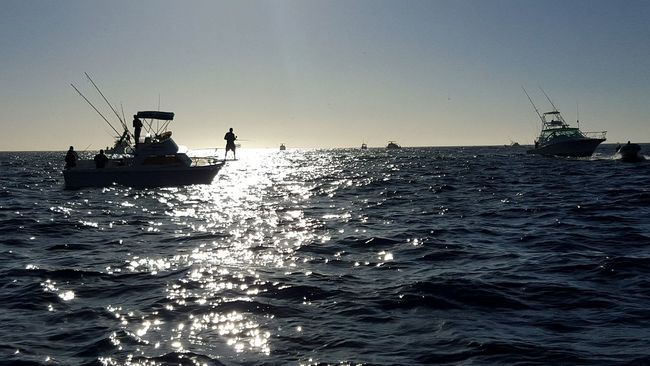 Sunrise on the Pacific. Mexico Boats Fishing Sunrise Ocean Water Los Cabos Cabo