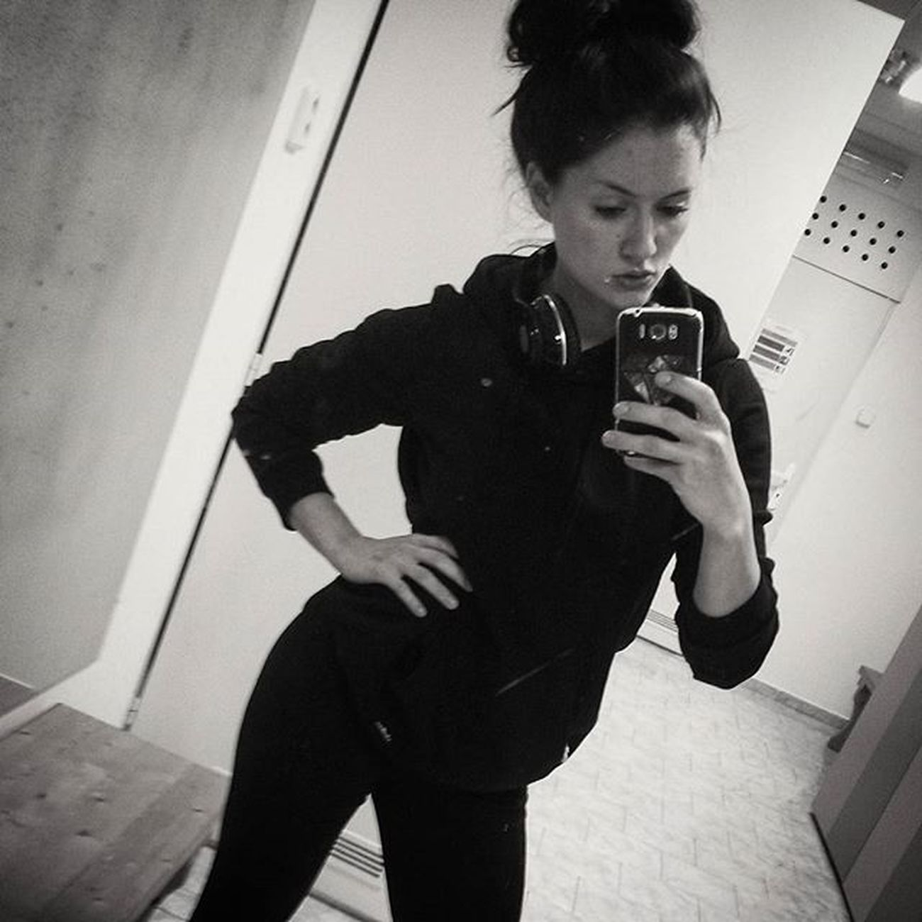 All Black Me Czechgirl Czech Girl Brunette Liberec Gym Fitmexx Love Fitness Lifestyle Instafit Fitgirl Music Beatsbydre BEATS Bodybuilding Body Is Your Masterpiece Health Muscle mirror pic follow the progress