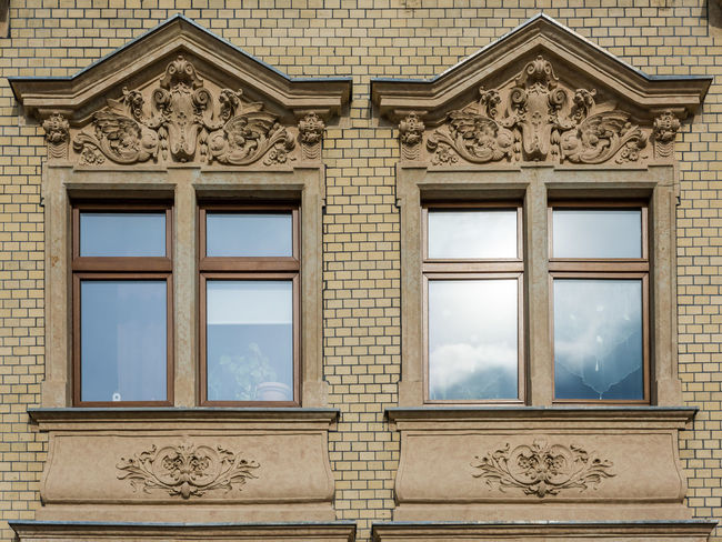 Zwei Fenster Architectural Detail Aue Brick Craft Duo Façade Germany Grid Historical Building Ornament Pattern Reflection Symmetry Windows The Architect - 2016 EyeEm Awards