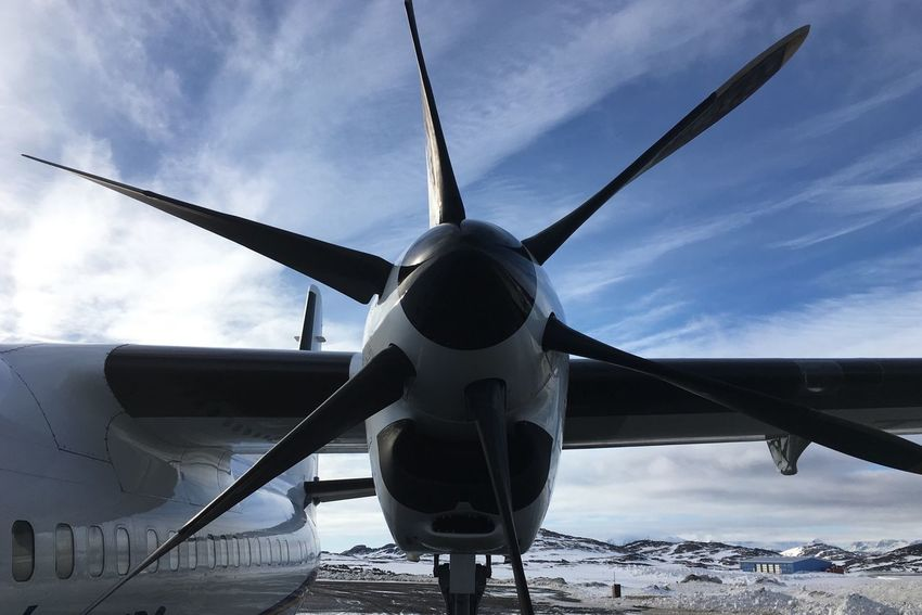 Rotors Live Authentic Motors Iceland Greenland Ice Airplane Air Vehicle Sky Transportation Mode Of Transport Travel Cloud - Sky Day No People Commercial Airplane Outdoors Airplane Wing